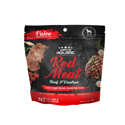 Absolute Holistic Air Dried Beef & Venison treat with green mussels 100 g