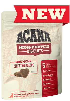 Acana High-Protein Biscuits Beef Liver for dogs 255 g