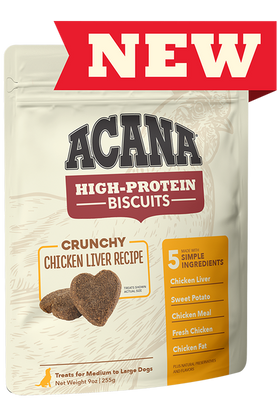 Acana High-Protein Biscuits Chicken treats for dogs 255g