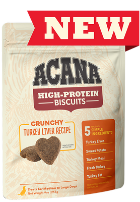 Acana High-Protein Biscuits Turkey treats for dogs