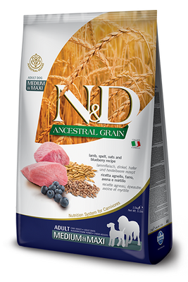 N&D (dog) Ancestral Grain Lamb Medium & Maxi  Adult