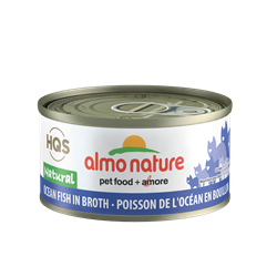 Almo Nature HQS Natural Ocean Fish in Broth Cat Can 2.47 oz (70g)