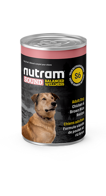 Nutram - Sound Balanced Wellness Chicken Rice Dog Can 13 oz  - Adult Dog - Wet Dog Food SALE