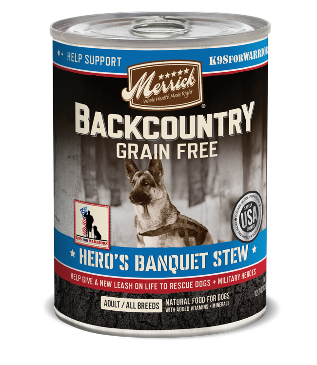 Merrick - Back Country - Canned Dog Food - Hero's Banquet Stew - SALE