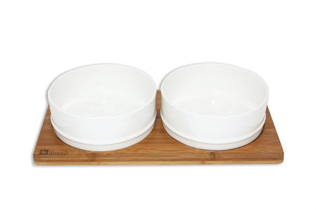 Be One Breed - Bamboo & Ceramic Bowl Set