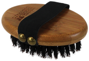 Bamboo Groom Palm Brush With Boar Bristles