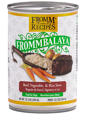 Fromm Frommbalaya Beef , Vegietable & Rice Stew  12.5 oz Dog Wet SALE