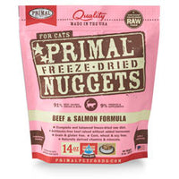 Primal Freeze-Dried Beef & Salmon Formula For Cats