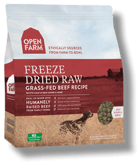open farm freeze dried raw dog food grass fed beef\