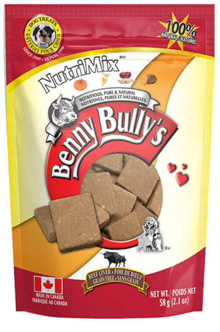 Benny Bully's NutriMix Beef Liver Dog Treats