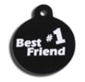 ID Tag - Best #1 Friend Large Dog Tag
