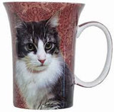 McIntosh Fine Bone China Mugs - Black and White Cat