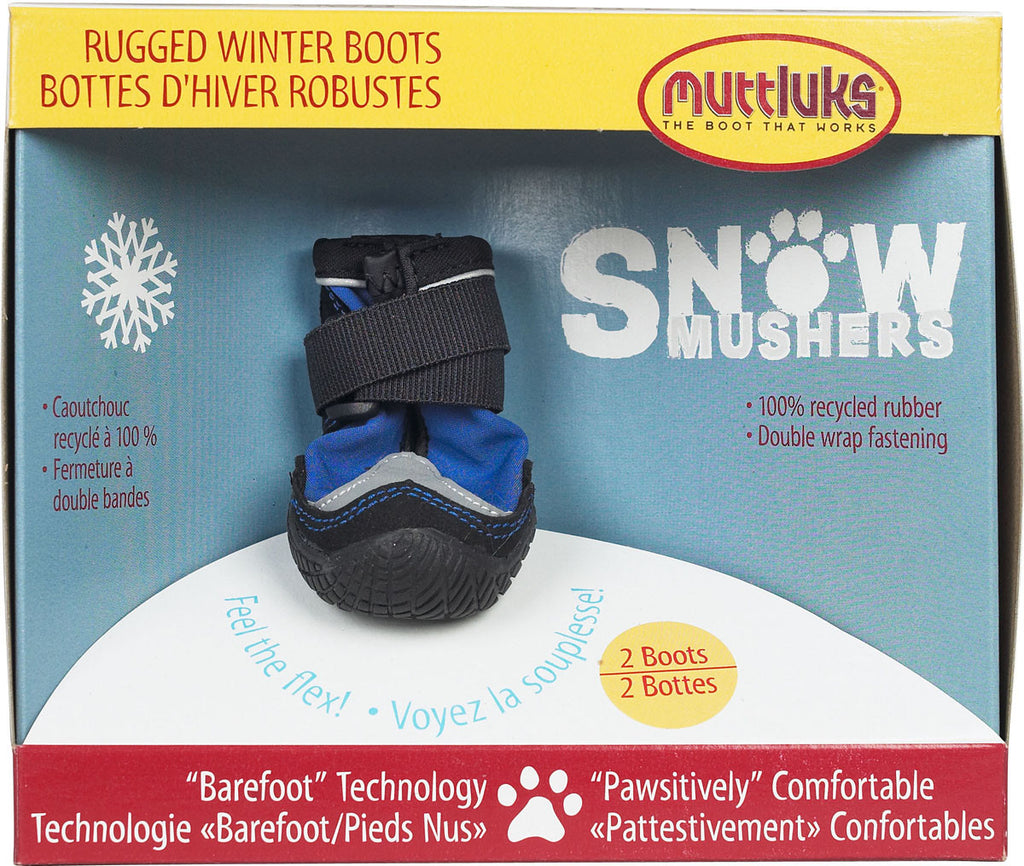 Muttluks Snow Musher Dog Boots - Blue SALE 25% OFF!