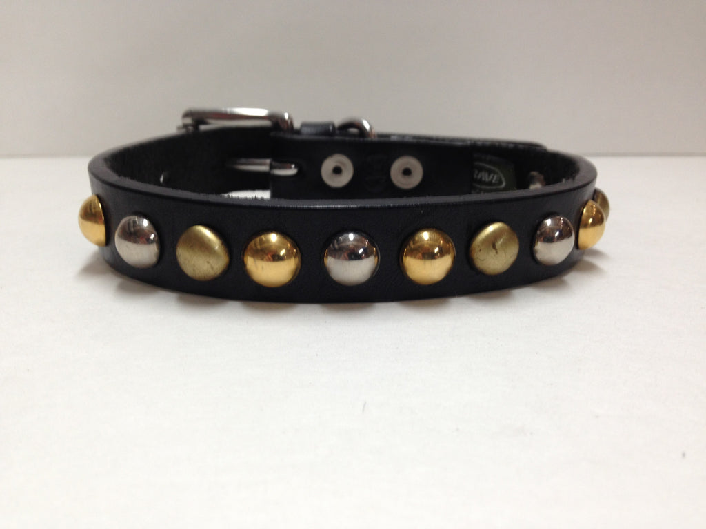 Black & Gold Dog Collar