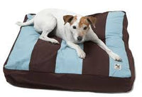Molly Mutt - Dog Bed Duvet - Brown & Blue Stripes - Small