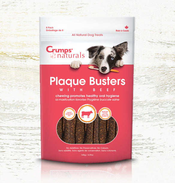 Crump's Natural Plaque Buster - Beef 140g