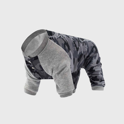 Canada Pooch - Frosty Fleece Onesie - Black Camo NEW