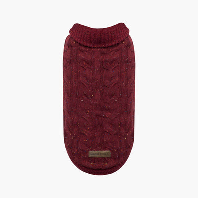 Canada Pooch - Cambridge Cable Knit Sweater - Maroon NEW