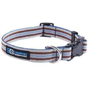 Canine Equipment Utility Collar - XL Brown Stripes