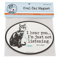 Car Magnet - Cat - I Hear You... I'm Just Not Listening