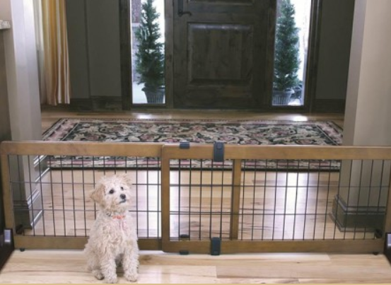 "Carlson Freestanding Extra Wide Wood Pet Gate 41"" - 70"""