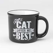 16 oz -.Mug - The Cat Loves Me Best