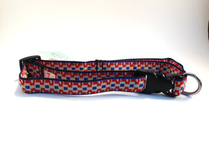 Canine Equipment Collar Red Blocks