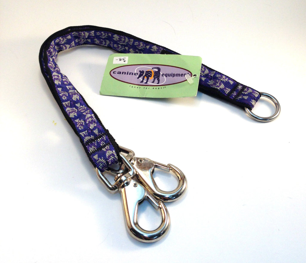 "Canine Equipment Coupler - Silver & Purple Fish 40"" x 1"""