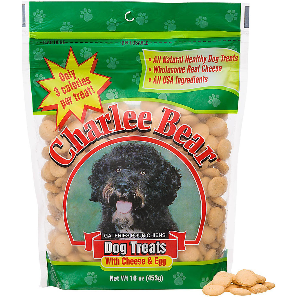 Charlee Bear - Cheese & Egg - Dog Treats - 16 oz