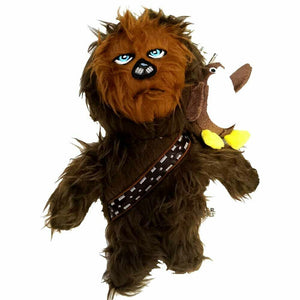 Silver Paw Star Wars Chewbacca With Mini Porg On Shoulder 10 Inch Plush Dog Toy