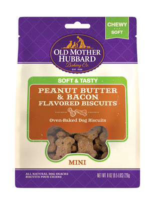 Old Mother Hubbard ® Soft & Tasty Peanut Butter & Bacon 8 oz Dog Treat