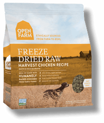 Open farm freeze dried raw dog food harvest chicken