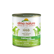 Almo Nature  HQS Natural Chicken and Tuna Vegetables Dog Can 280g