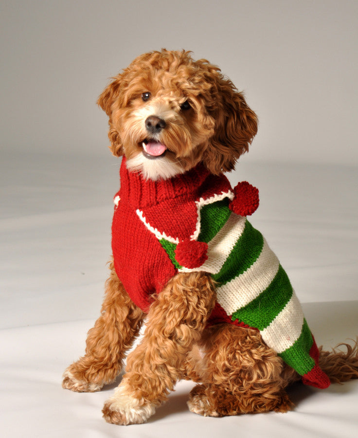Chilly Dog Novelty Xmas Elf Sweater SALE