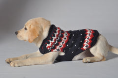 Chilly Dog Navy Fairisle Sweater
