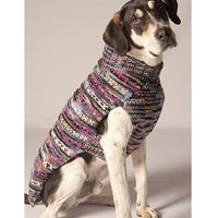 Chilly Dog Sweater Cable Knit Purple