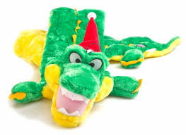 Long Body Squeaker Mat, Gator with Hat