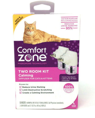 Comfort Zone Two Room Kit Calming Diffuser For Cat