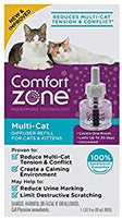 Comfort Zone Multicat Diffuser Refill for Cat Calming, Single Refill