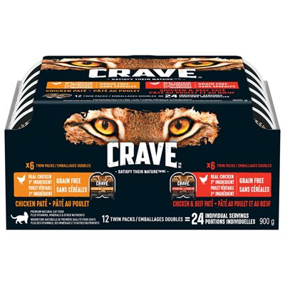 Crave Perfect Portions Adult Cat Chicken / Beef & Chicken Multipack 12 / 75g