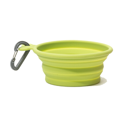 Messy Mutts Silicone Collapsible Bowl 3 Cups, Med, Green