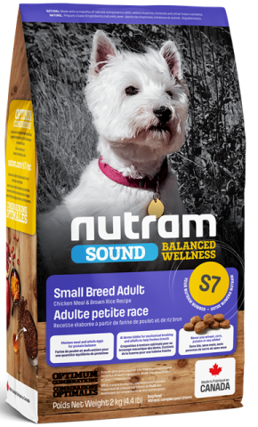 Nutram - Sound Balanced Wellness - Small Breed Adult - Dry Dog Food S7 2 KG