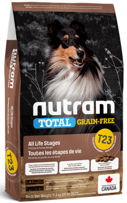Nutram - Total Grain Free - Chicken and Turkey - Dry Dog Food T23