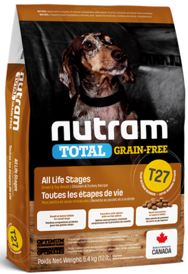 Nutram - Total Grain Free - Small Breed Chicken and Turkey T27- Dry Dog Food