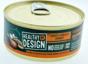 Healthy By Design - Turkey and Giblets - Wet Cat Food