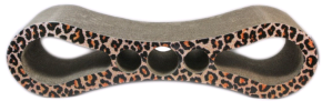 Leopard Figure 8 Carboard Cat Scratcher