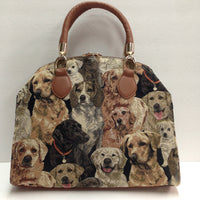 Arched Bag - Dog Pattern