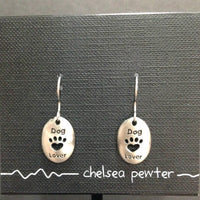 Chelsea Pewter - Dog Lover - Earrings