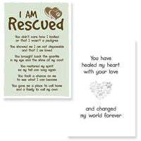 Dog Speal Cards - Greeting Cards - I Am Rescued