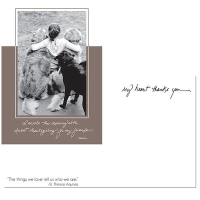 Dog Speak Cards - Greeting Cards - 3 Dog Hug